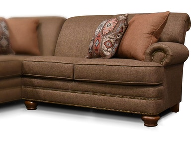 England Living Room Reed Sectional With Nails 5q00n Sect