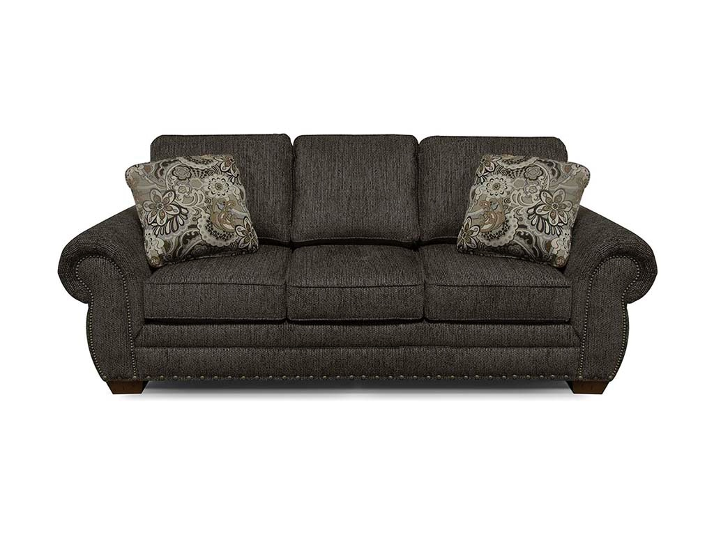 England Living Room Walters Sofa With Nails 6635N Bob Mills Furniture Tul