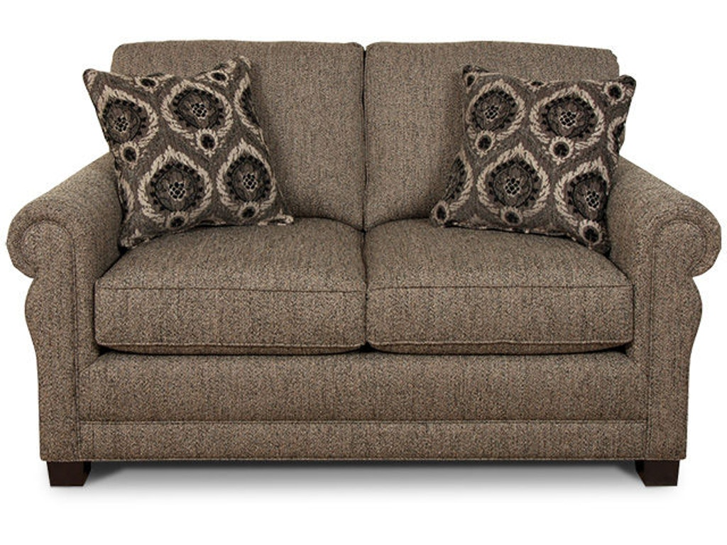 England Living Room Green Loveseat 6936 England
