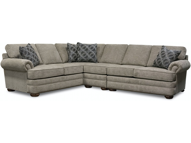 Fabulous England Living Room Knox Sectional With Nails 6M00N Sect Pdpeps Interior Chair Design Pdpepsorg
