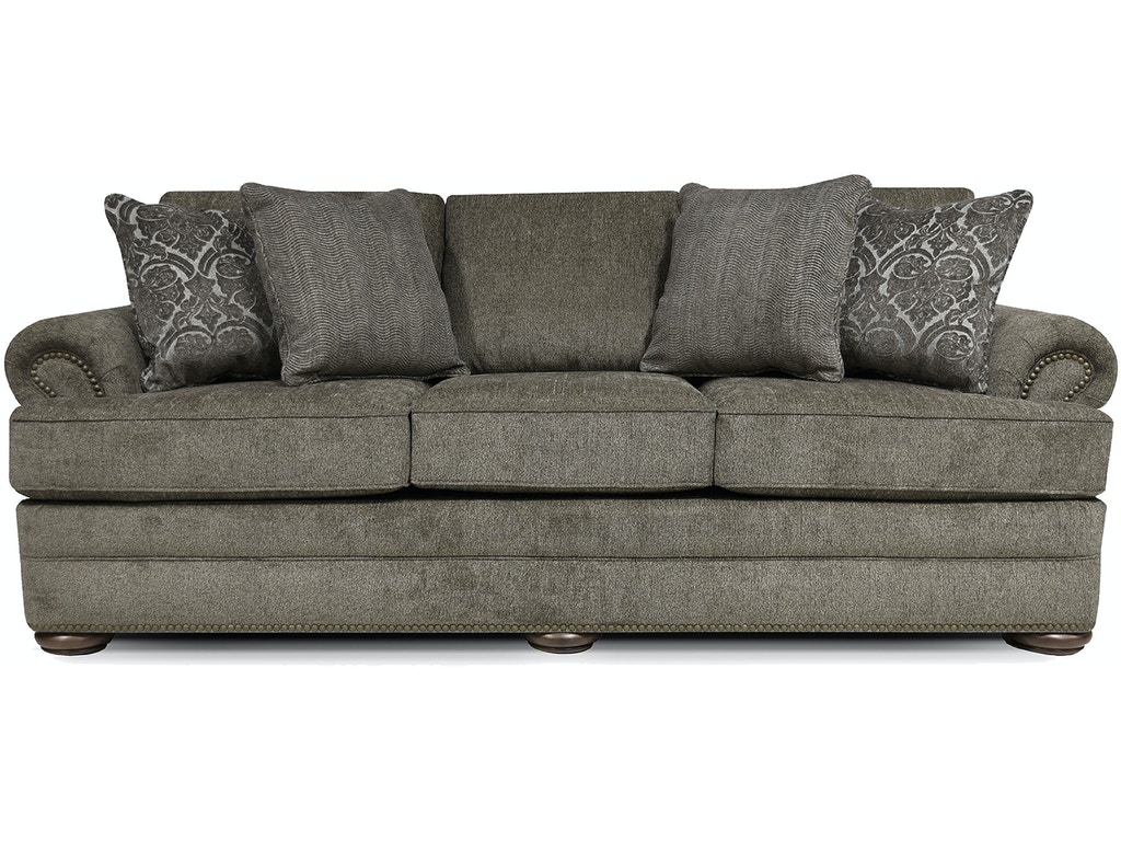 England Living Room Knox Sofa With Nails 6m05n Seaside