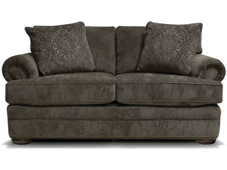 England Living Room Knox Loveseat With Nails 6m06n
