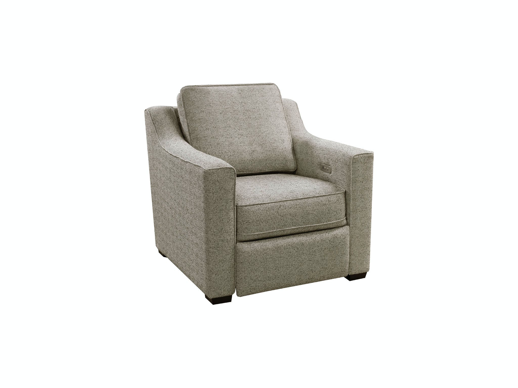 England Living Room Quentin Chair With Power Ottoman 8q00 30