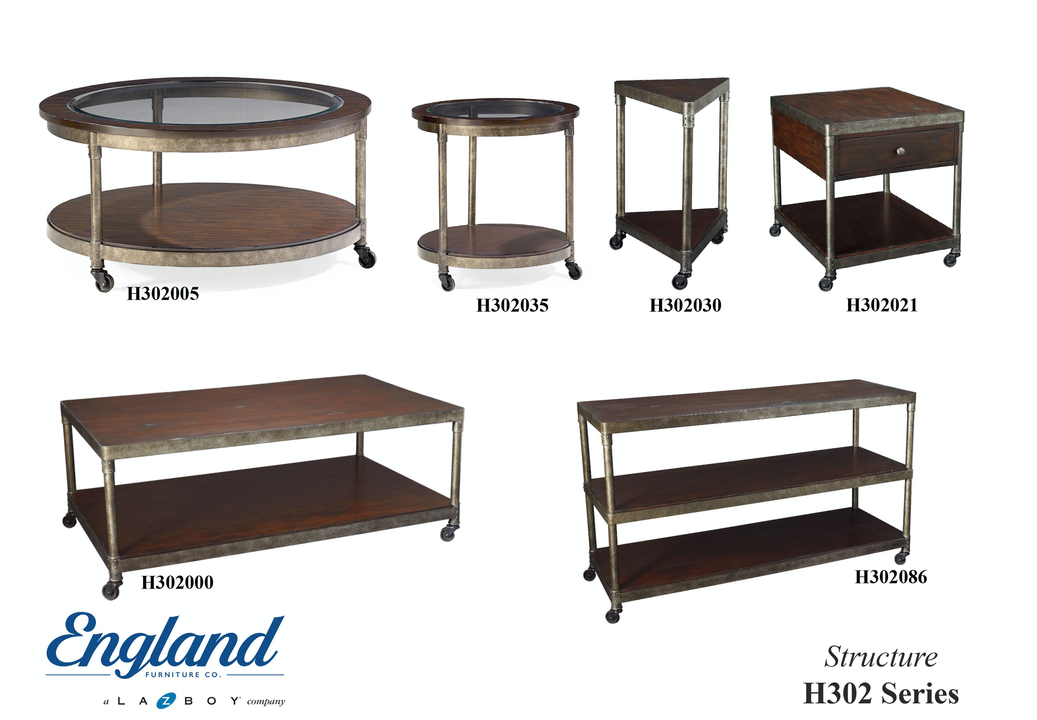 England Living Room Structure Tables H302 Bob Mills