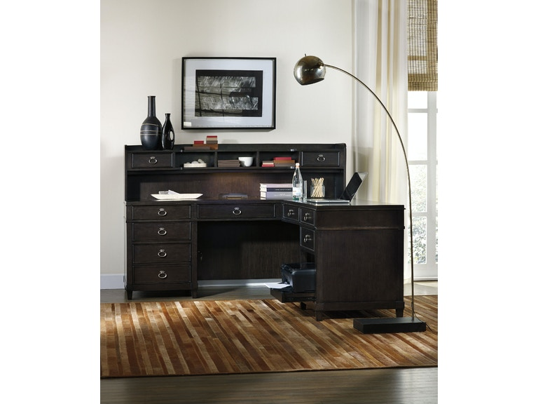 Hooker Furniture Home Office Kendrick L Desk Hutch 4848 Best Hooker Furniture Home Office