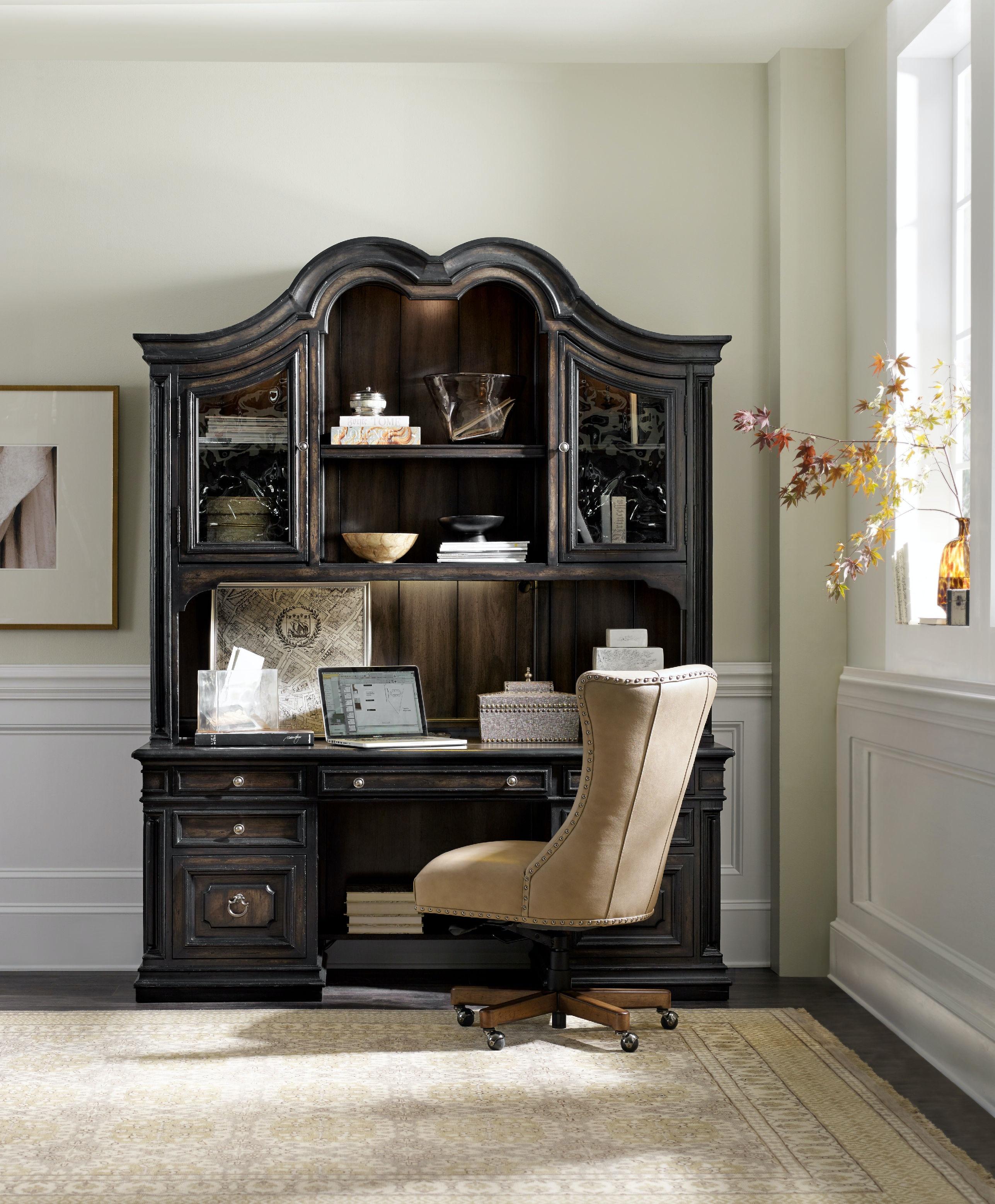 Hooker Furniture Auberose Computer Credenza Hutch 1595 10467 LTBK