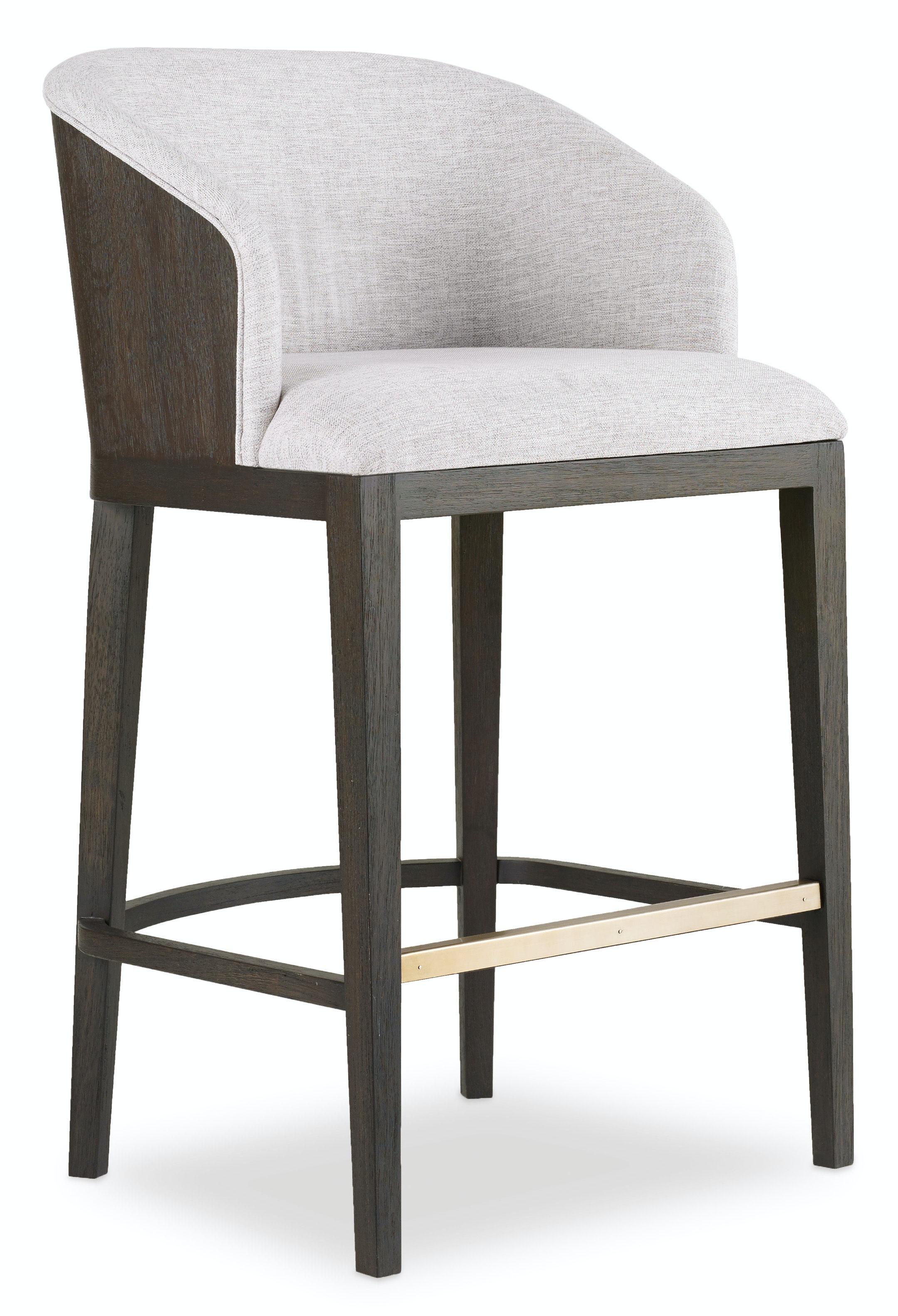 upholstered bar stools. Hooker Furniture Curata Upholstered Bar Stool 1600-20860-DKW Stools S