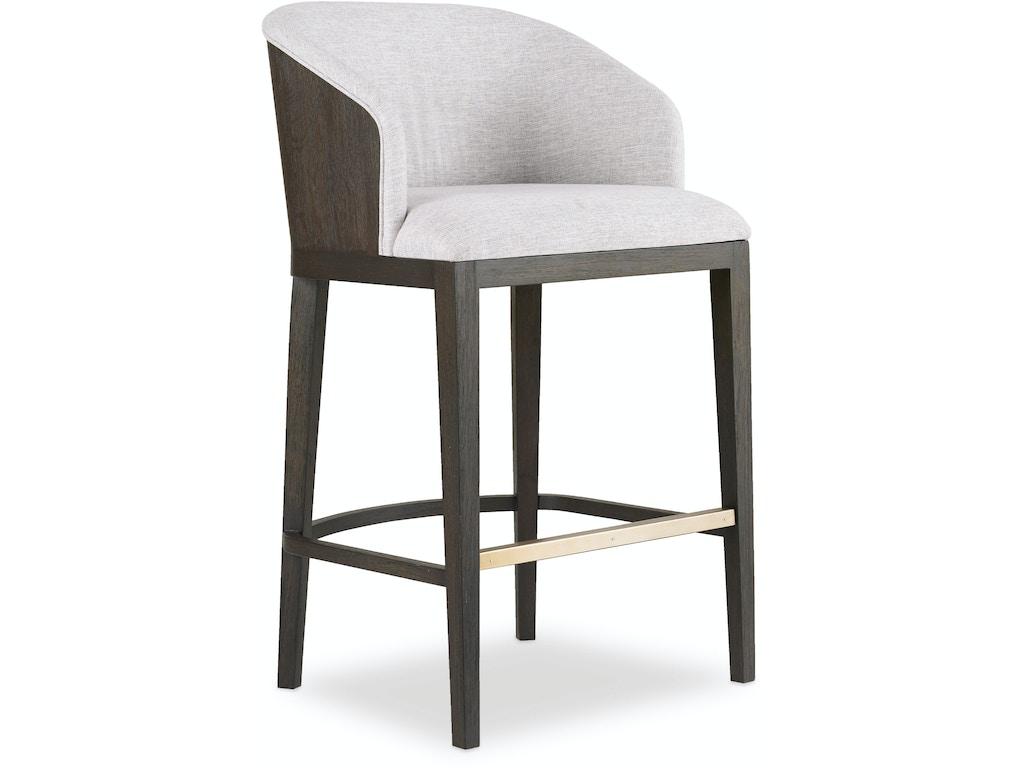 Hooker furniture dining room curata upholstered bar stool 1600 20860 dkw elements for design - Barstools denver ...