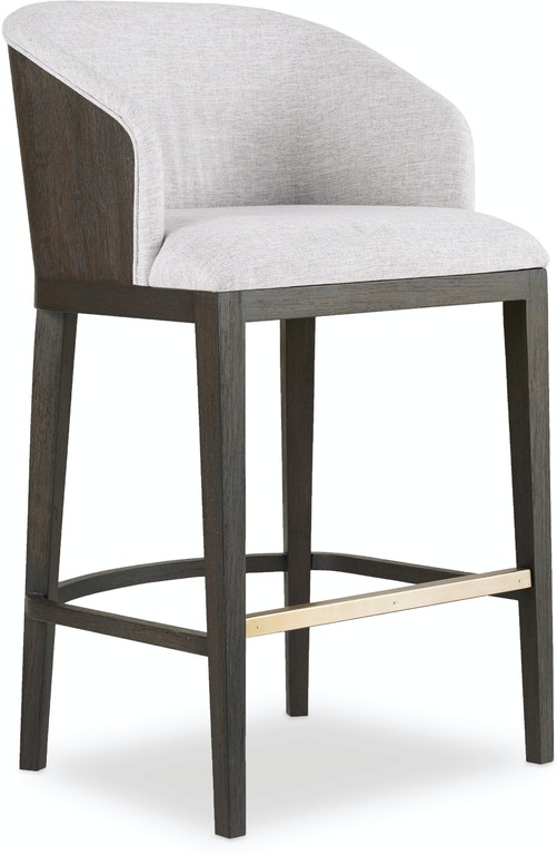 hooker furniture curata upholstered bar stool 1600 20860 dkw