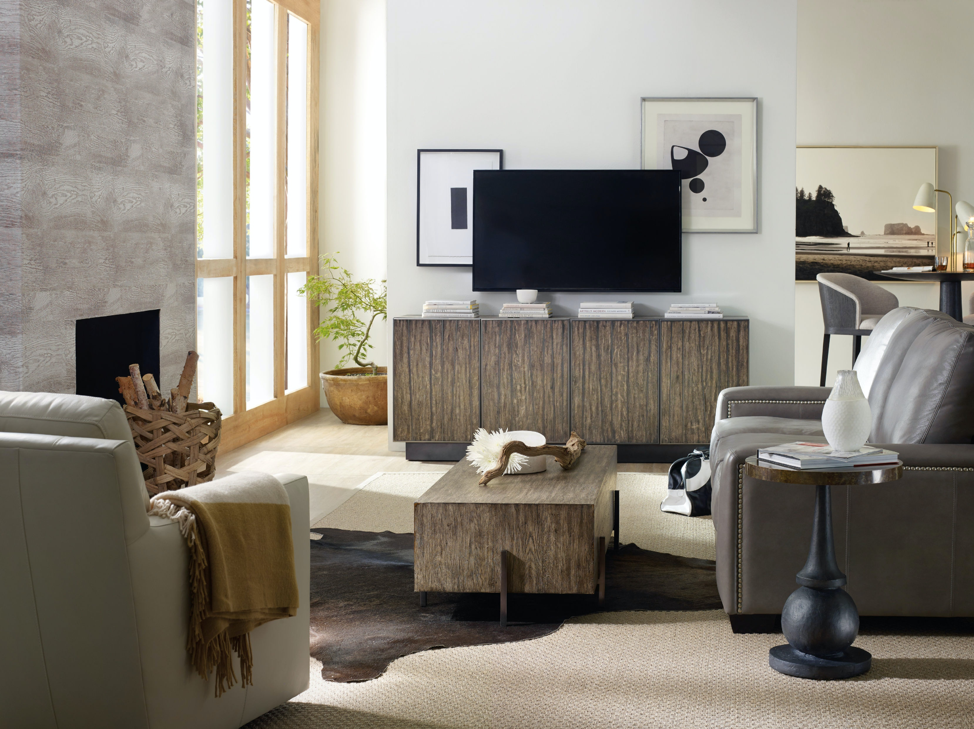 Round White Leather Coffee Table Accent Walls In Living Room There   Hooker Furniture Living Room Curata Accent Table 1600 50003 Mtl  . Accent Living Room Tables. Home Design Ideas