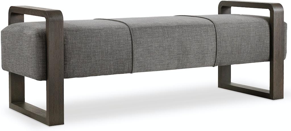 Hooker furniture living room curata upholstered bench 1600 for Design source furniture az