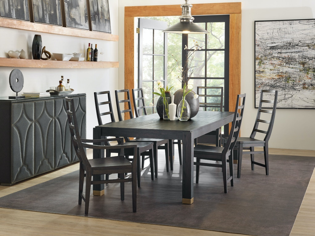 Hooker Furniture Dining Room Curata Rectangle Dining Table W 2 20in Leaves 1600 75200a Dkw