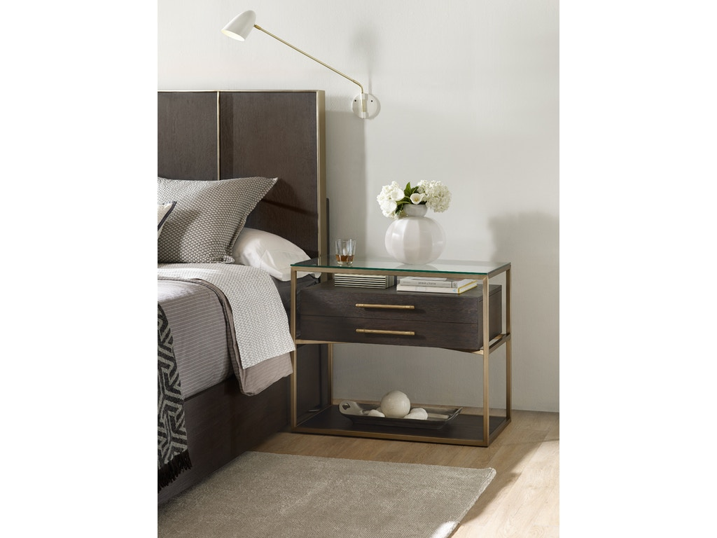 Hooker furniture bedroom curata one drawer nightstand 1600 for Furniture one dallas