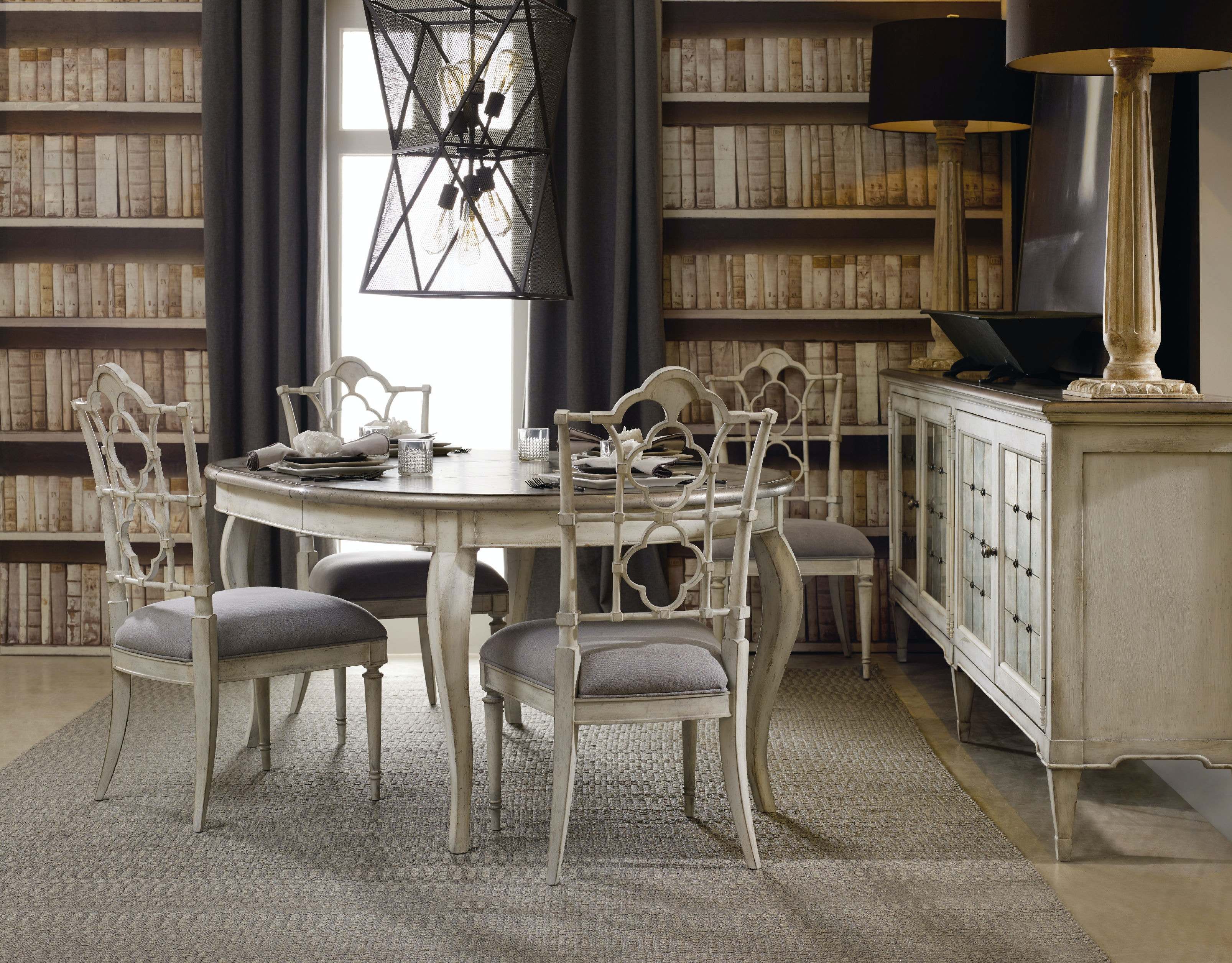 Hooker Furniture Dining Room Arabella Side Dining Chair WH - Dining chairs in living room