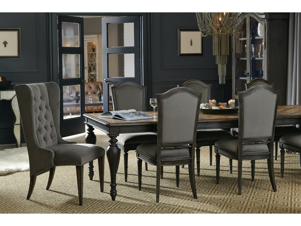 Hooker Furniture Dining Room Arabella Rectangle Leg Table W 2 20 In Leaves 1610 75207 Multi