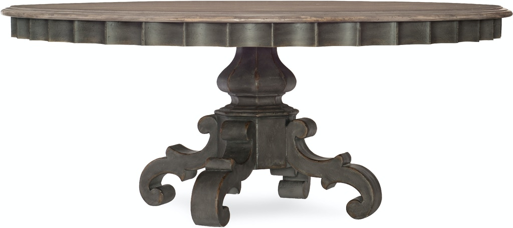 9a2f4258197be6 Hooker Furniture Arabella 72in Round Pedestal Dining Table 1610-75211-GRY