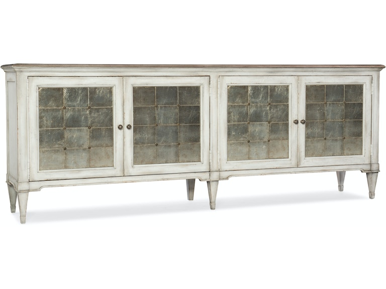Hooker furniture living room arabella four door credenza for Living room 4 doors