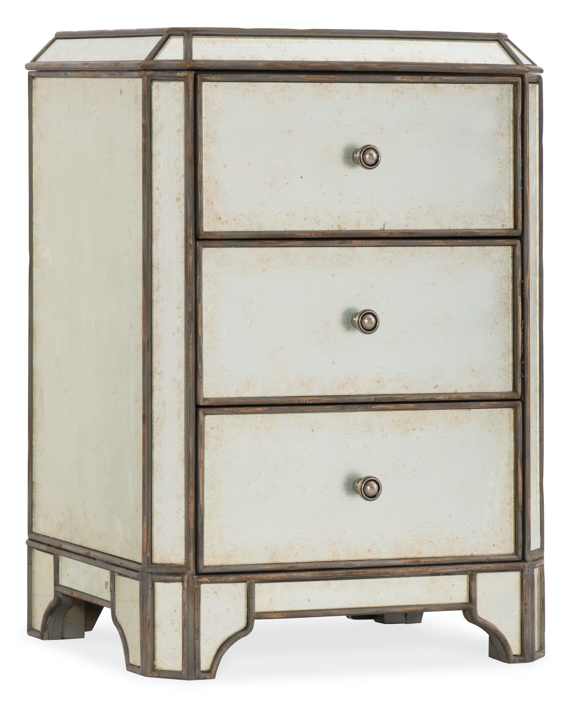 Hooker Furniture Bedroom Arabella Mirrored Three Drawer