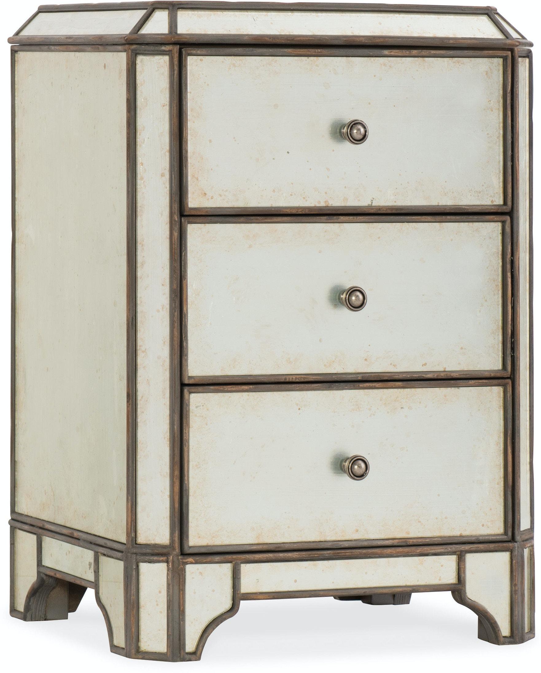 best cheap c9b5e e4099 Hooker Furniture Bedroom Arabella Mirrored Three-Drawer ...