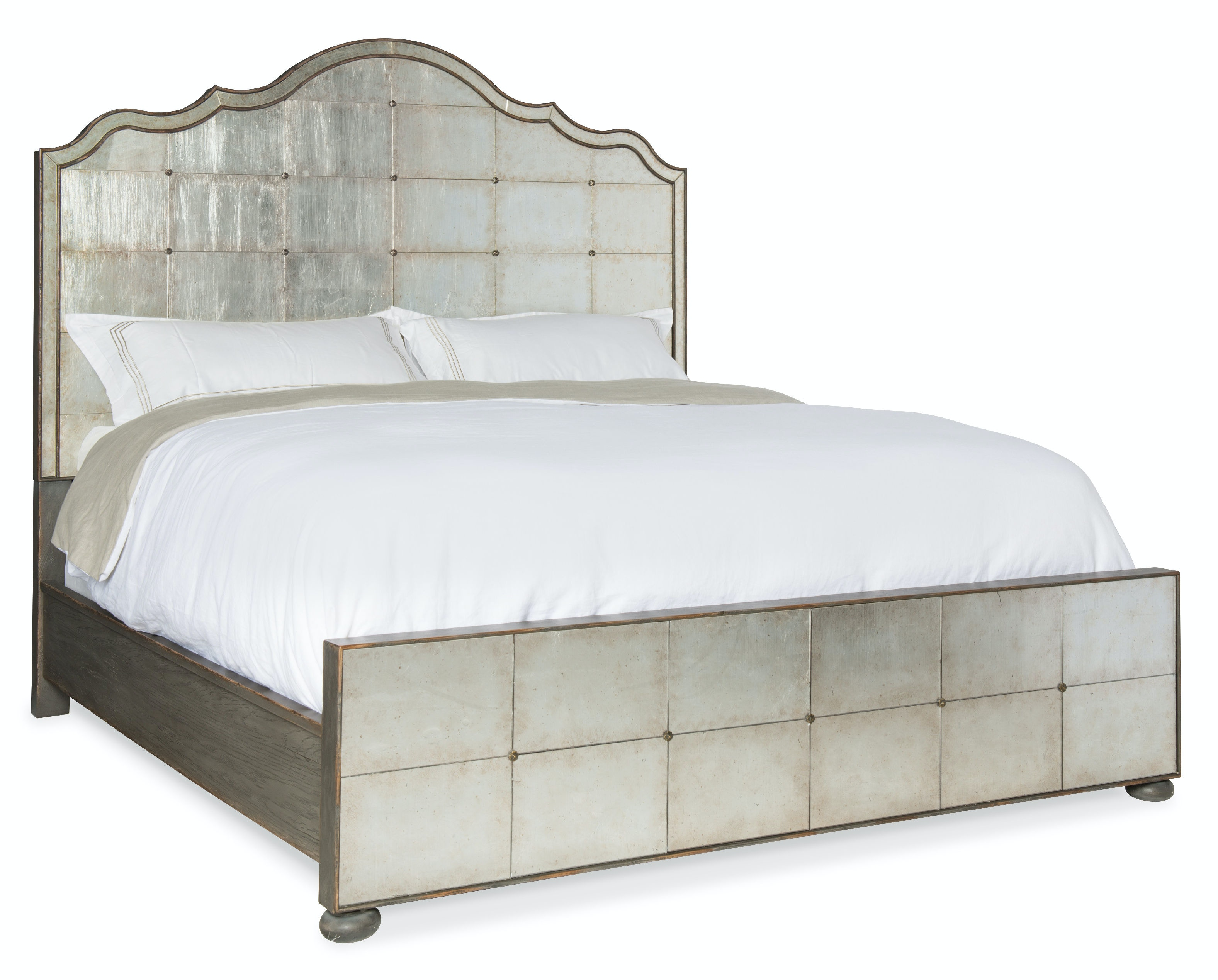 Arabella King Mirrored Panel Bed 1610-90166-EGLO