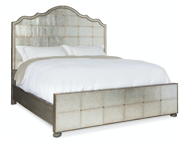 Hooker Furniture Arabella King Mirrored Panel Bed 1610-90166-EGLO