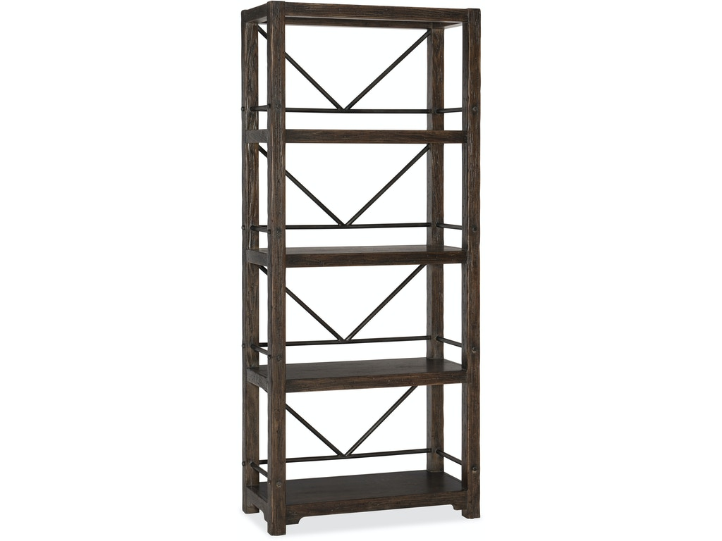hooker furniture home office roslyn county etagere 1618 10445 dkw woodchucks fine furniture. Black Bedroom Furniture Sets. Home Design Ideas