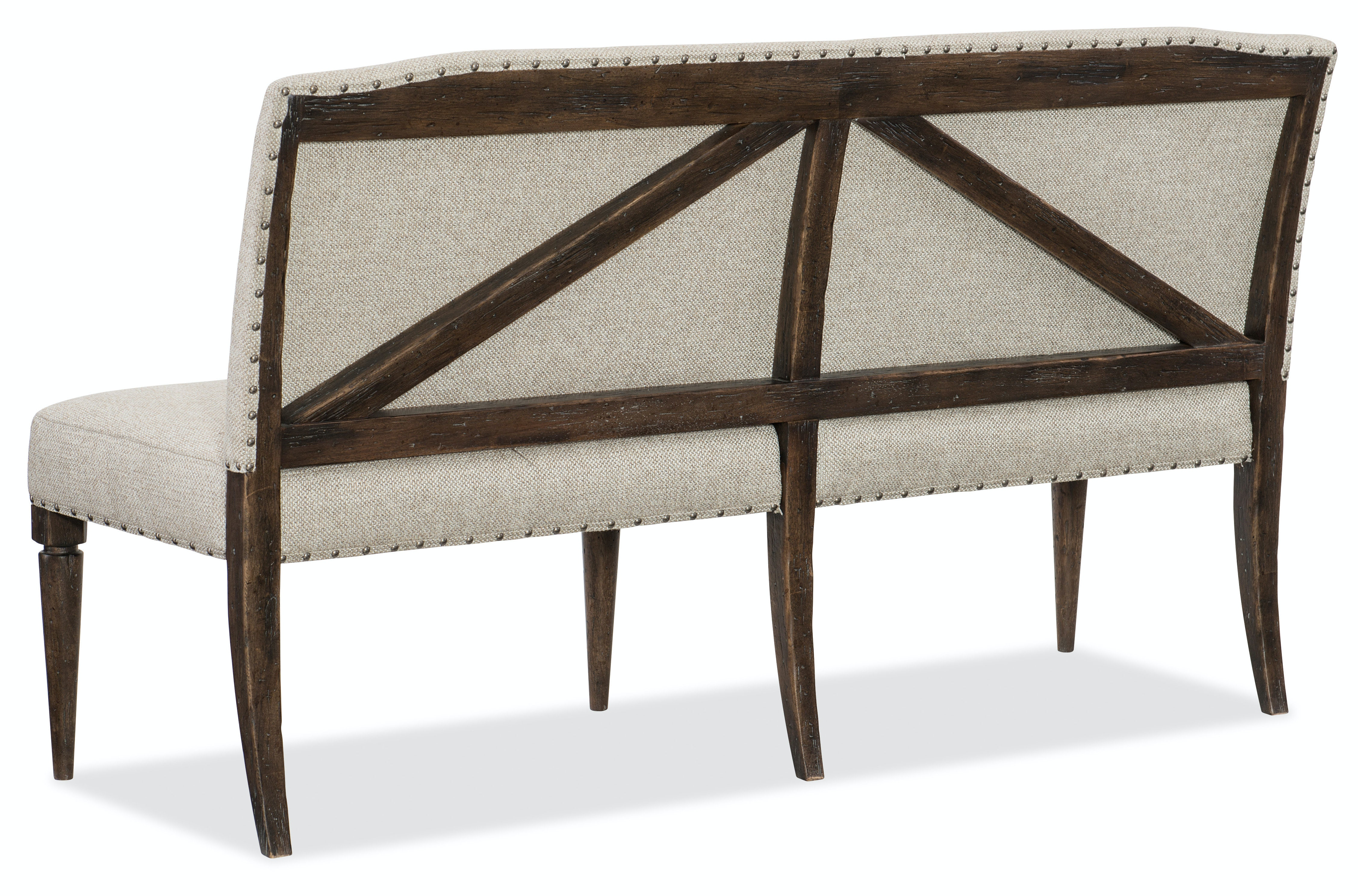 Bon Hooker Furniture Roslyn County Upholstered Dining Bench HS161875019DKW From  Walter E. Smithe Furniture + Design