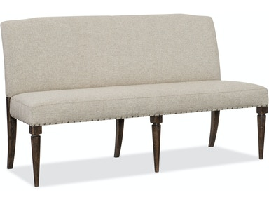 Hooker Furniture Roslyn County Upholstered Dining Bench 1618-75019-DKW