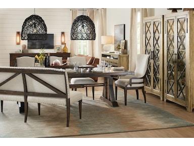 Hooker Furniture Dining Room Roslyn County Trestle Dining