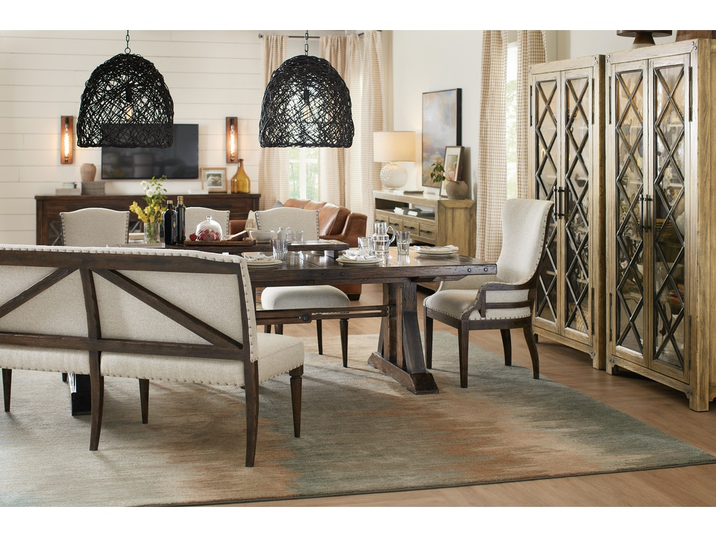 Hooker Furniture Dining Room Roslyn County Upholstered Dining Bench 1618 75019 Dkw Toms Price