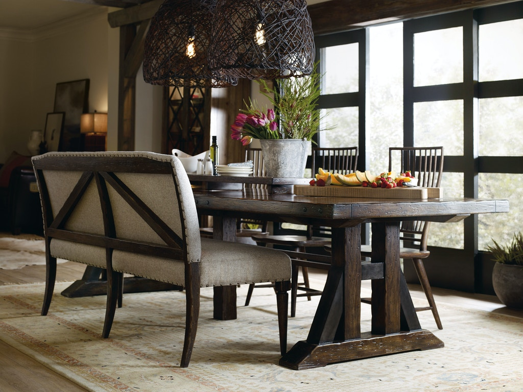Bench Dining Tables: Hooker Furniture Dining Room Roslyn County Upholstered