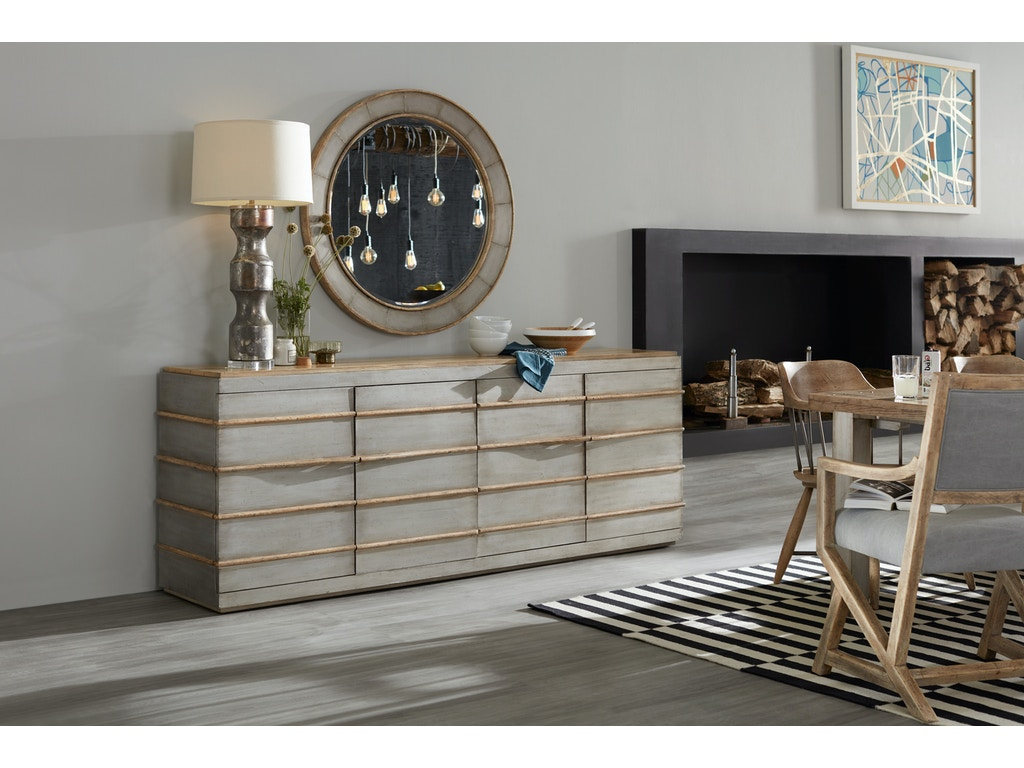 Hooker Furniture Home Entertainment Urban Elevation Metal Entertainment Credenza 1620 55484 Ltbr