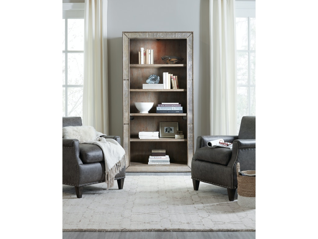 Hooker Furniture Home Office Rustic Glam Bookcase 1641
