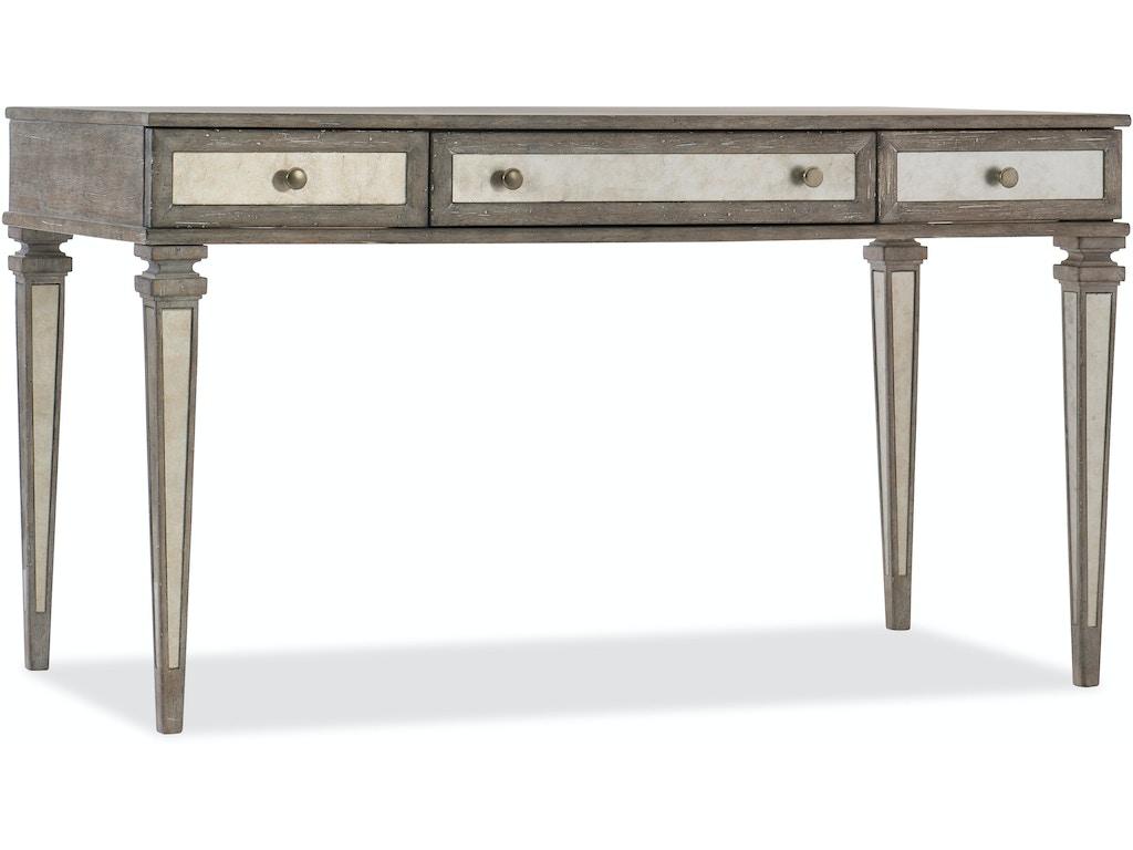 Hooker Furniture Home Office Rustic Glam Leg Desk 1641 10458 Ltwd Hatch Furniture Yankton