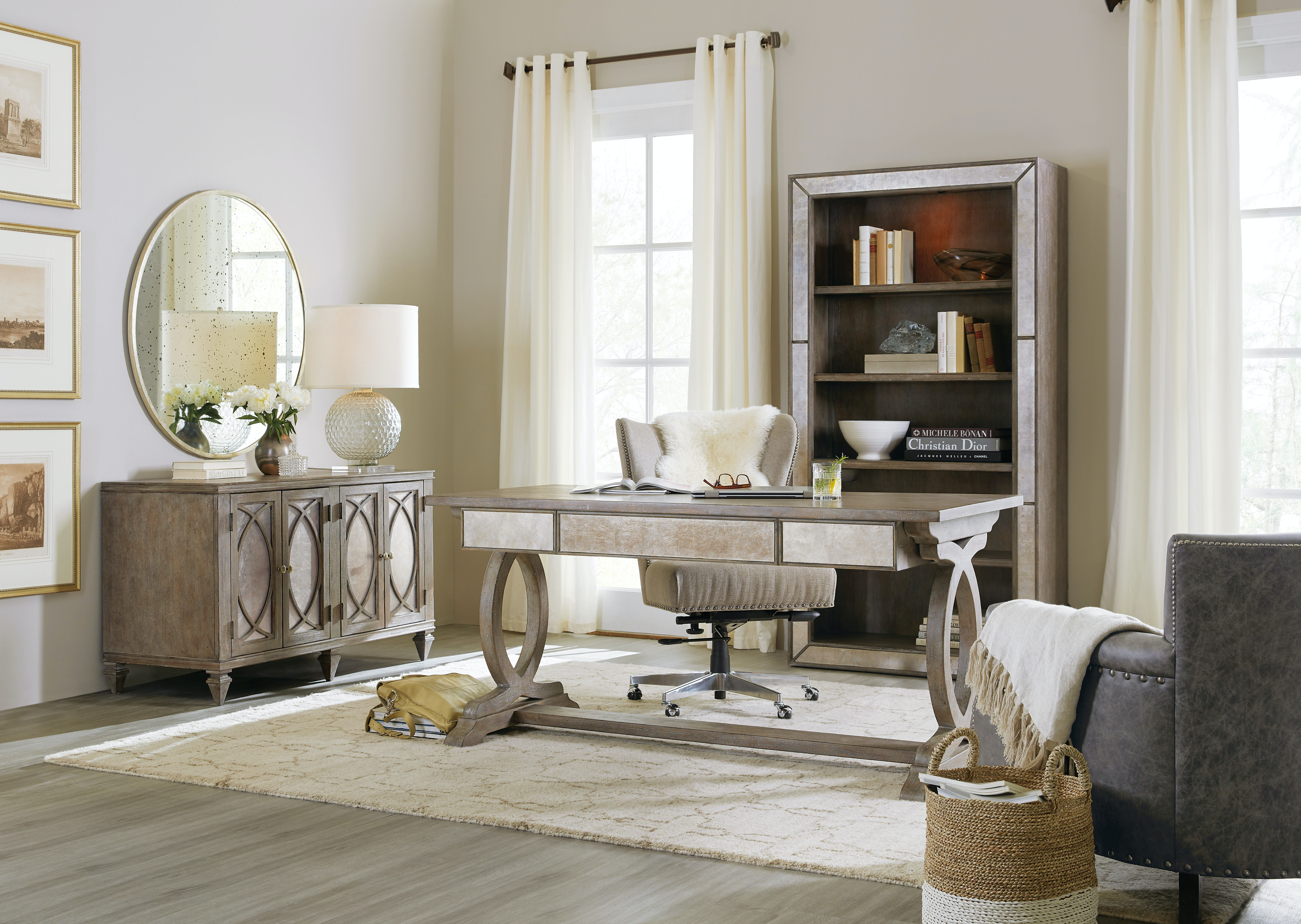 Hooker Furniture Home Office Rustic Glam Credenza 1641