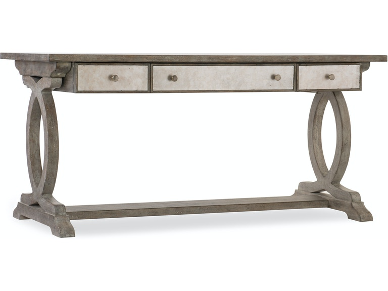 Furniture Home Office Rustic Glam Trestle Desk 1641 10459 Ltwd At Norwalk
