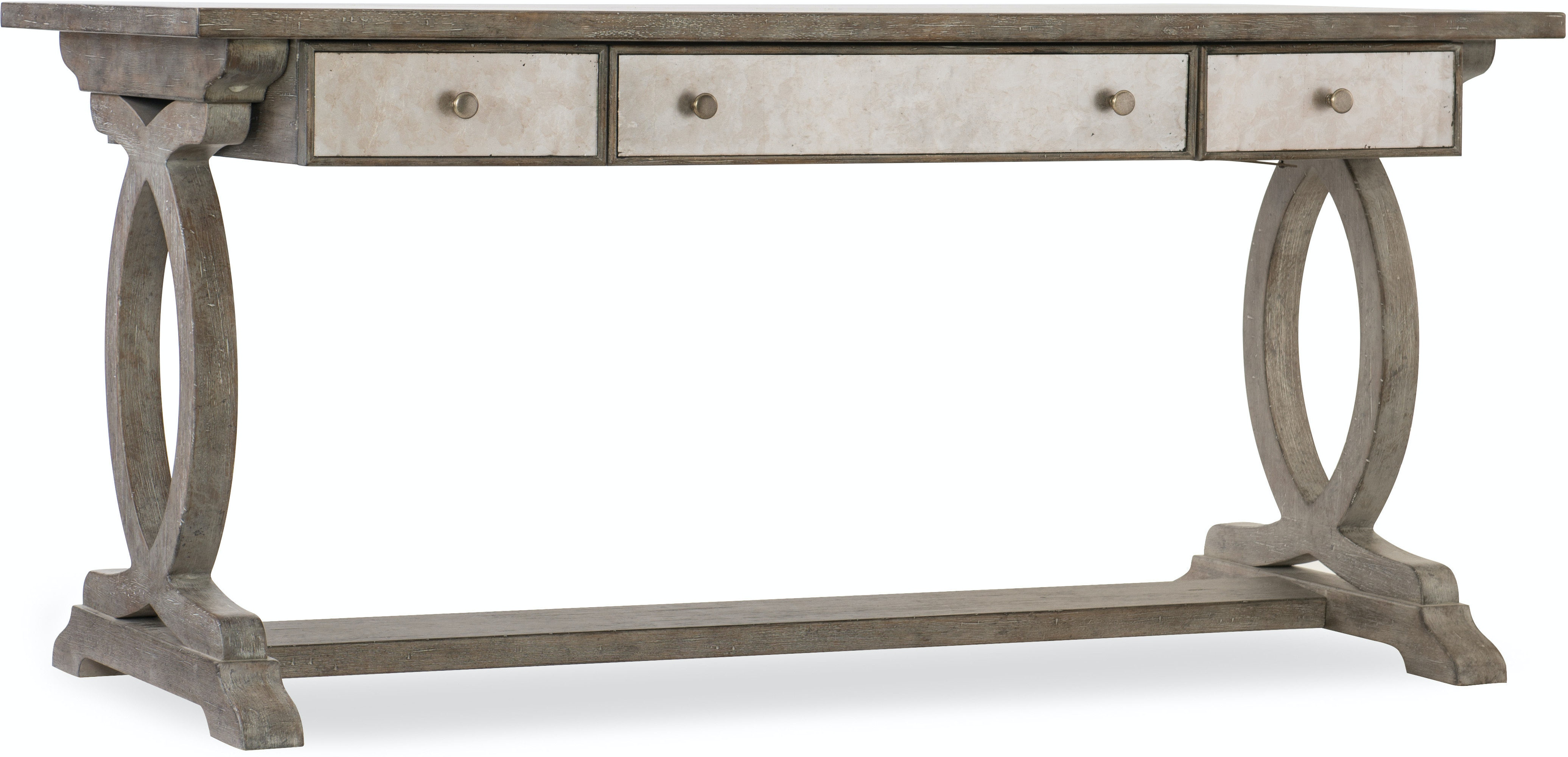 Furniture Home Office Rustic Glam Trestle Desk 1641