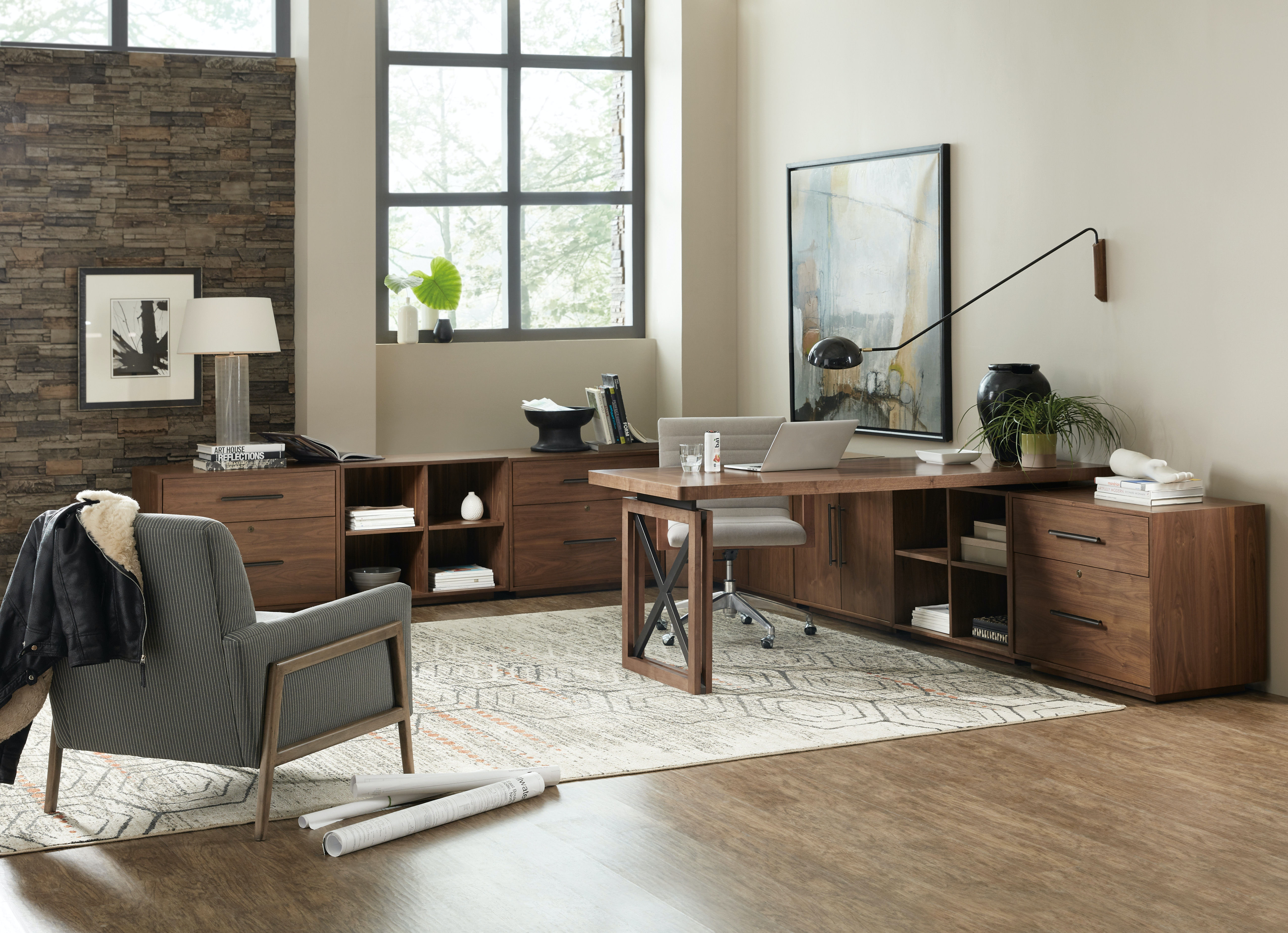 Beau Hooker Furniture Elon Modular Home Office