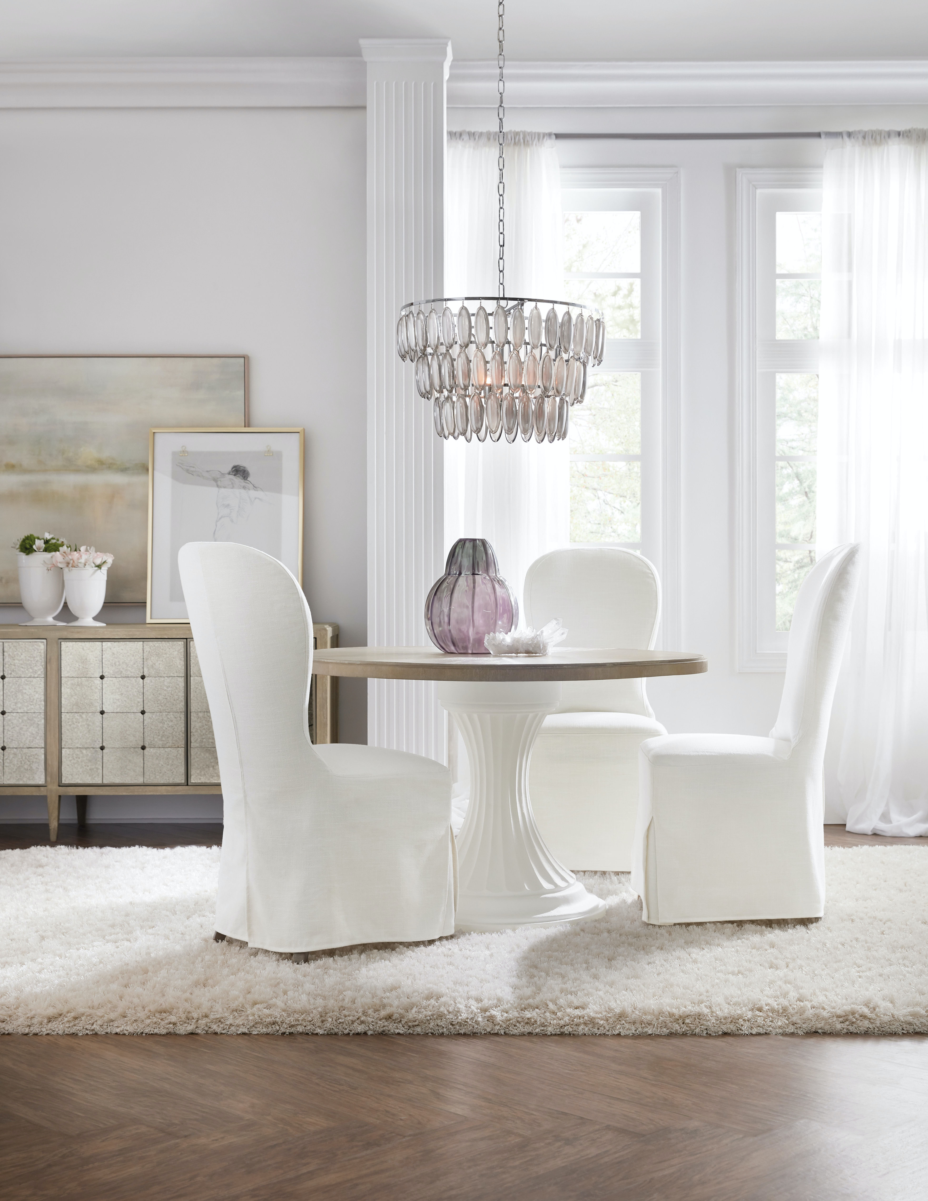 Furniture Dining Room Modern Romance 48in Round