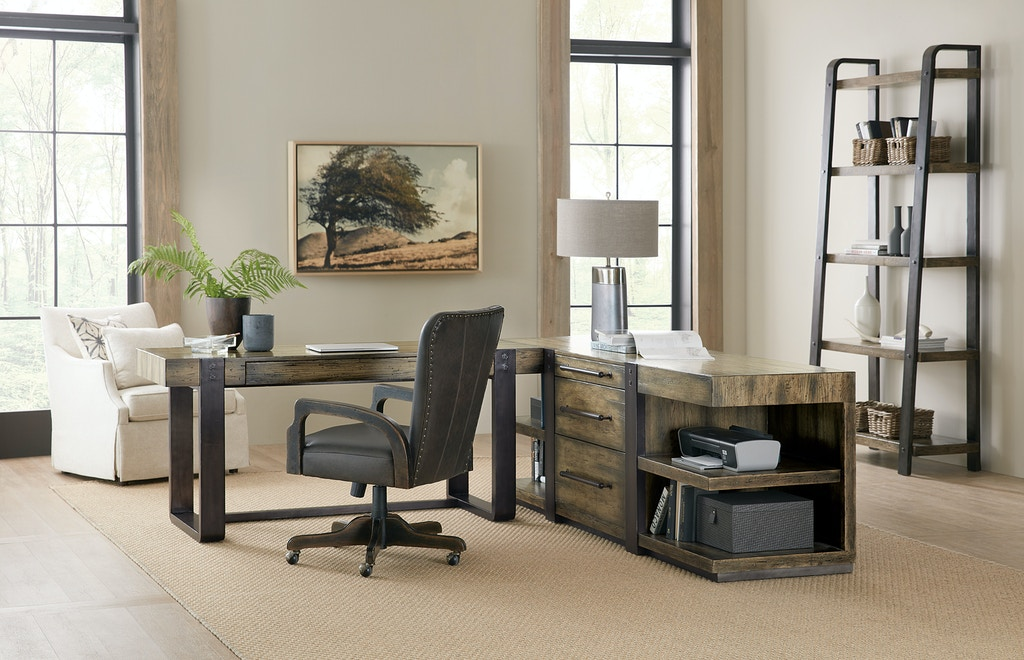 Home Office Furniture Michigan: Hooker Furniture Home Office Crafted Leg Desk 1654-10458