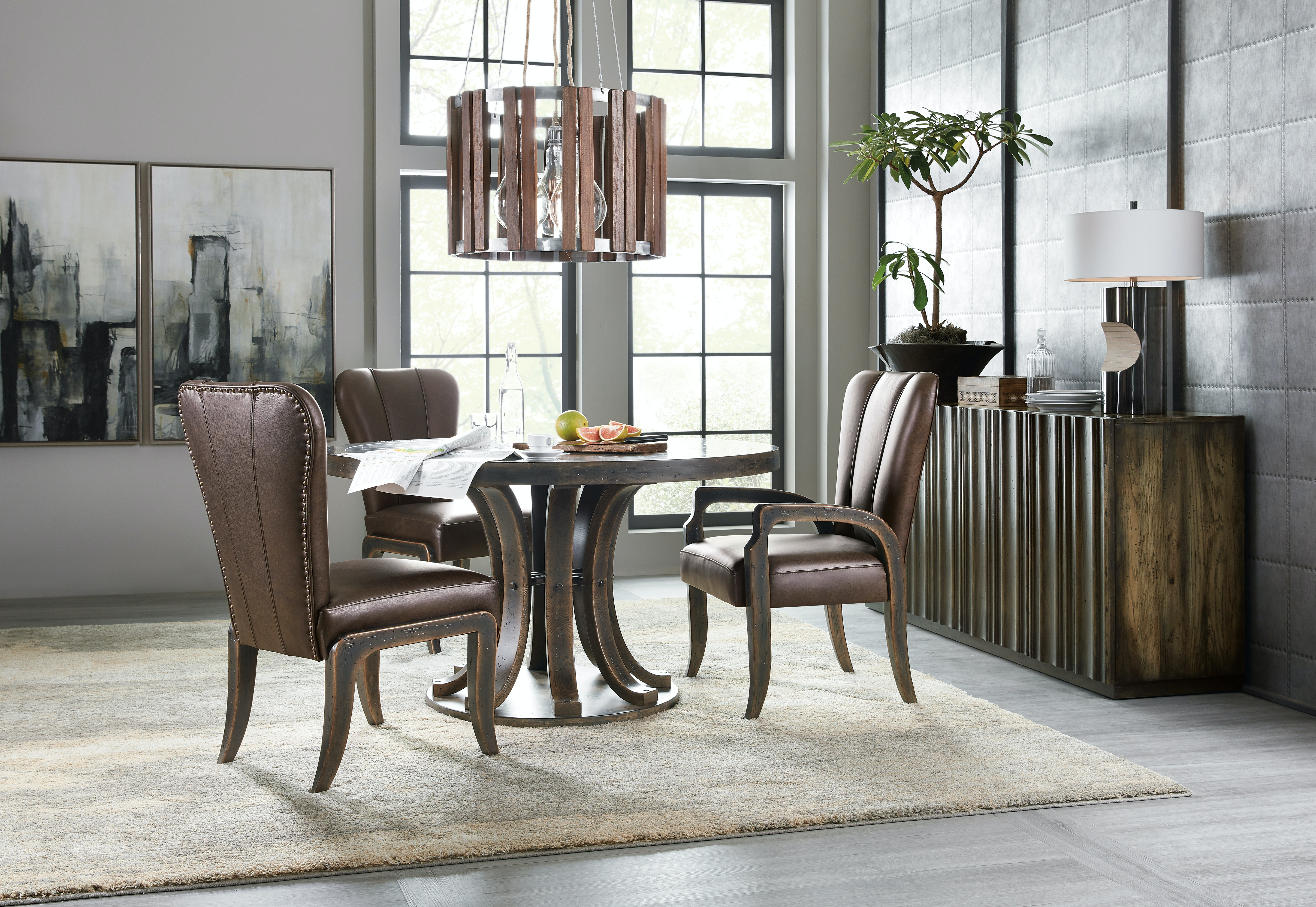 Enjoyable Hooker Furniture Dining Room Crafted Leather Arm Chair 2 Pdpeps Interior Chair Design Pdpepsorg