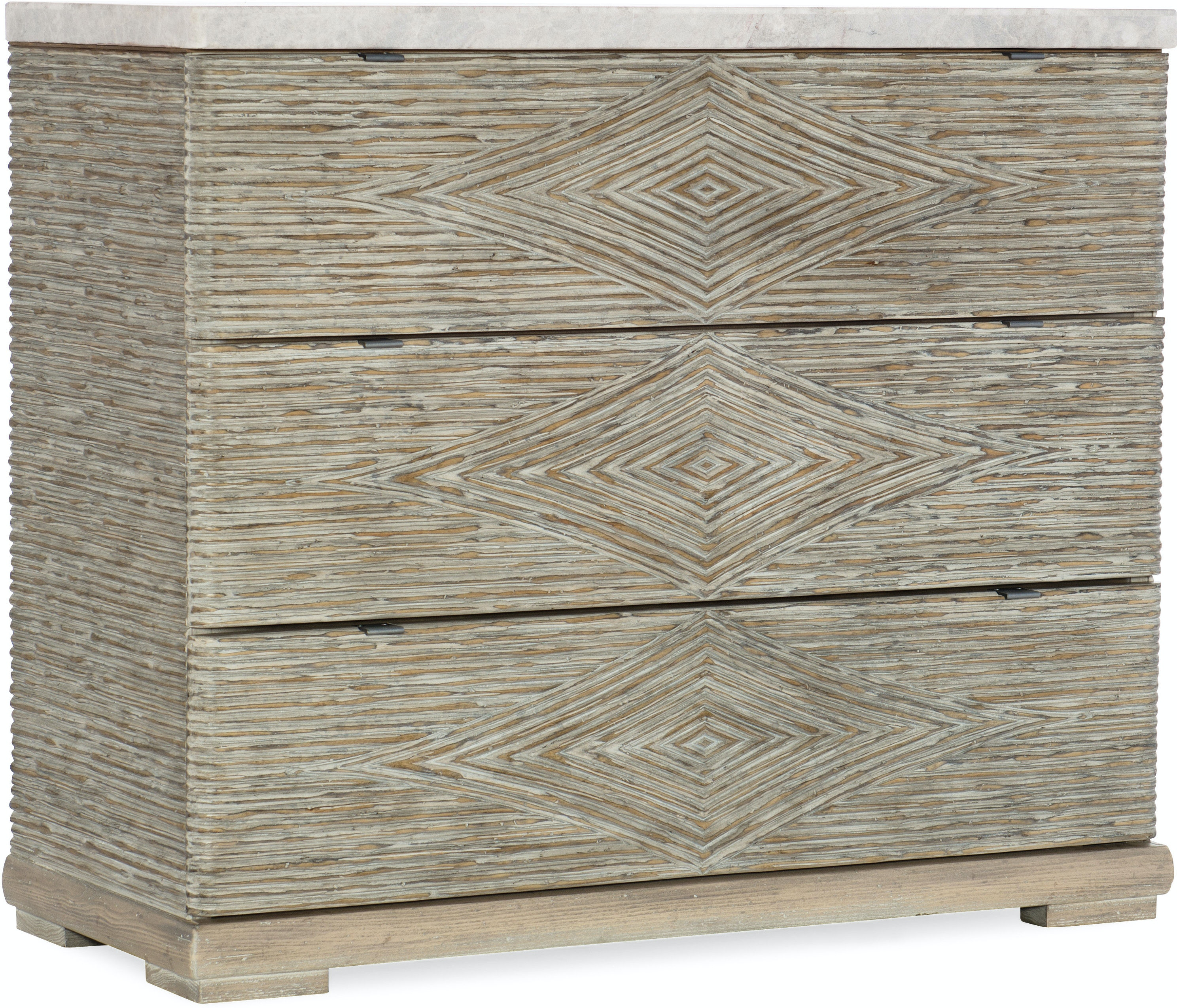 Hooker Furniture Living Room Amani Three-Drawer Accent Chest ...