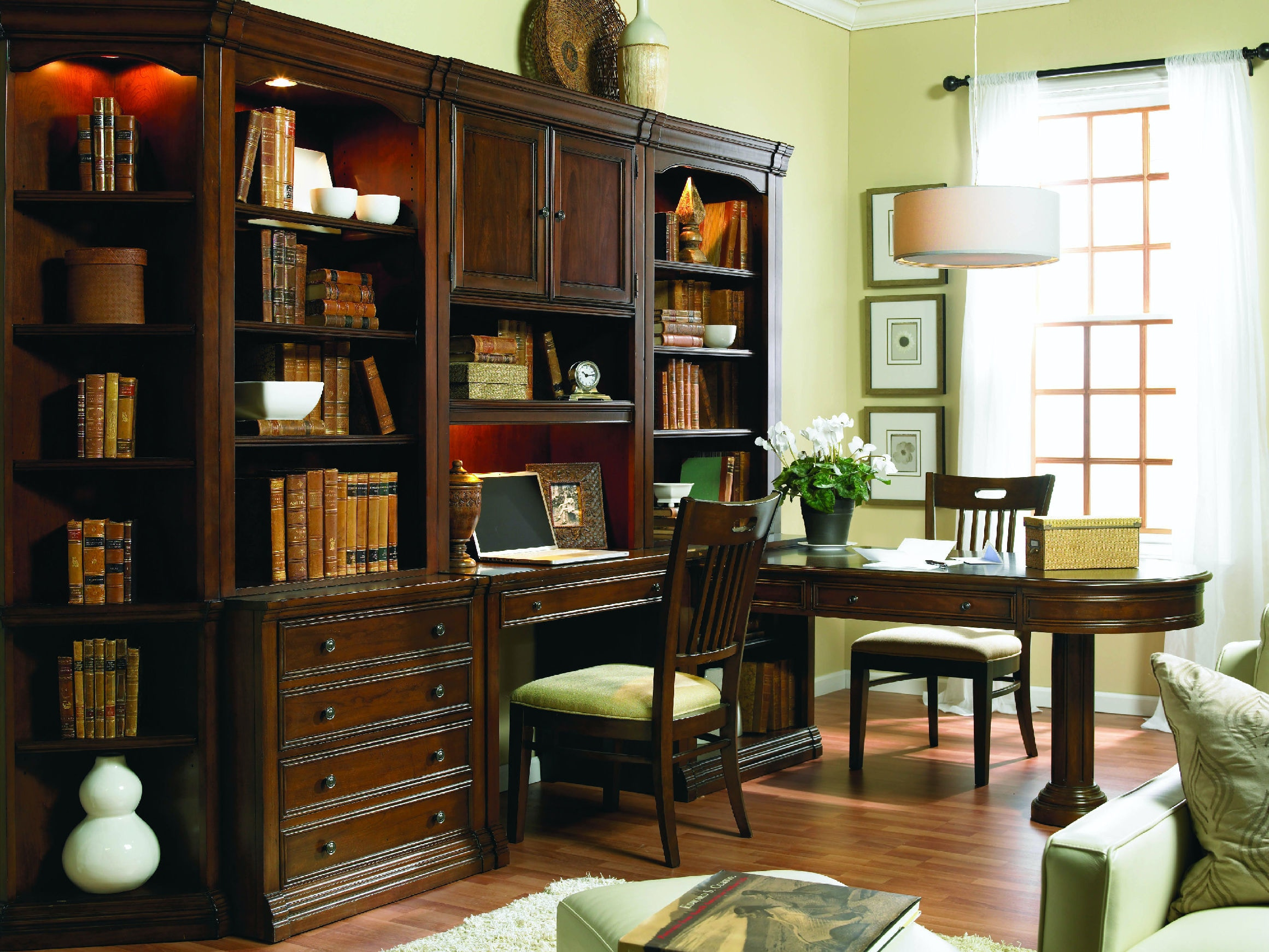 Terrific Hooker Furniture Home Office Office Wall System Cherry Creek Home Interior And Landscaping Ologienasavecom