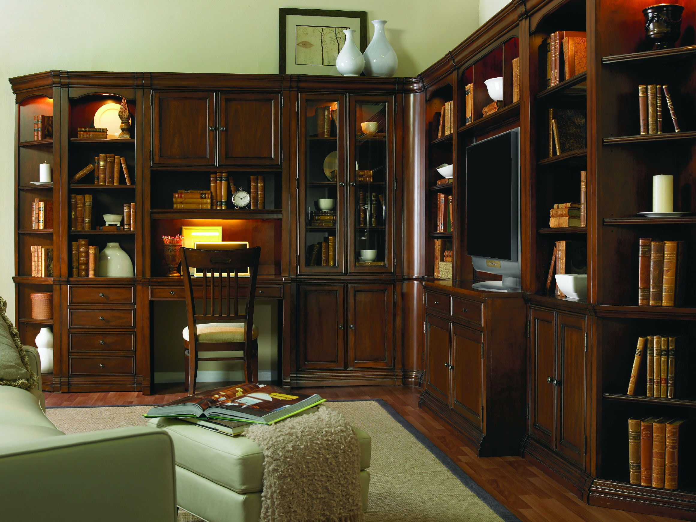 Hooker Furniture Home fice Cherry Creek Wall End Unit L R 258 70 450