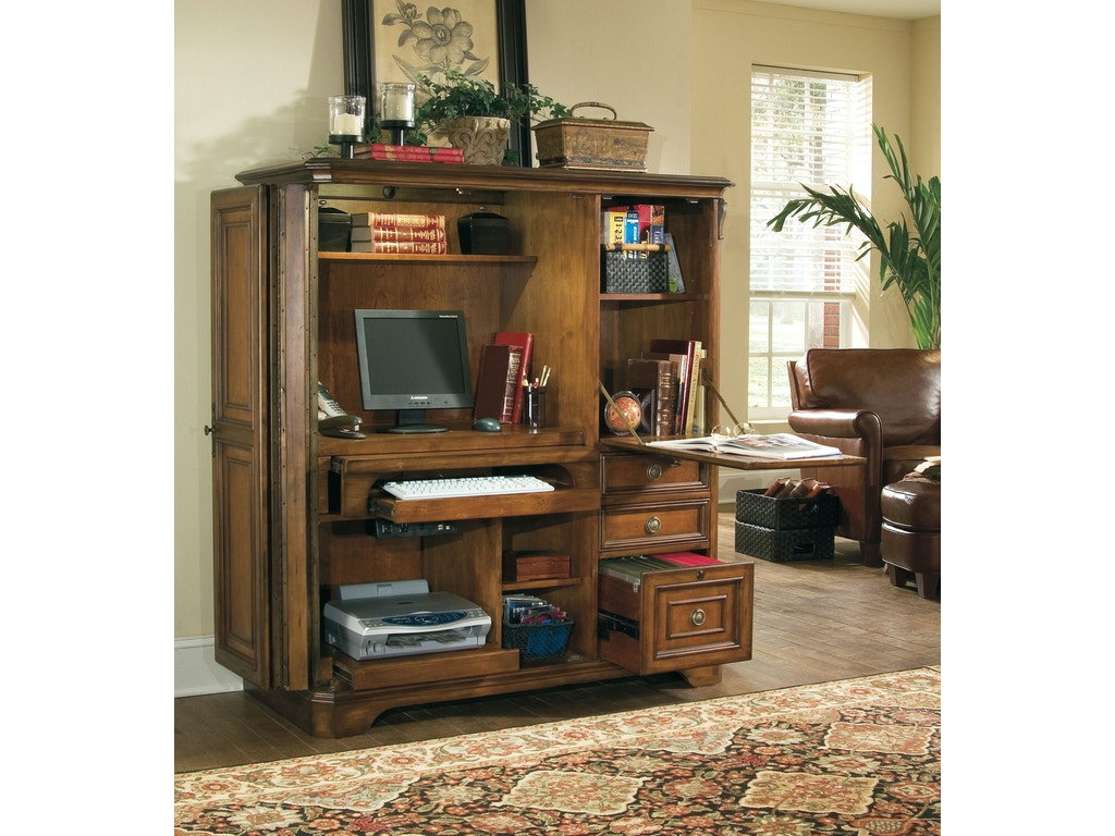Hooker furniture home office brookhaven computer cabinet for Brookhaven kitchen cabinets price
