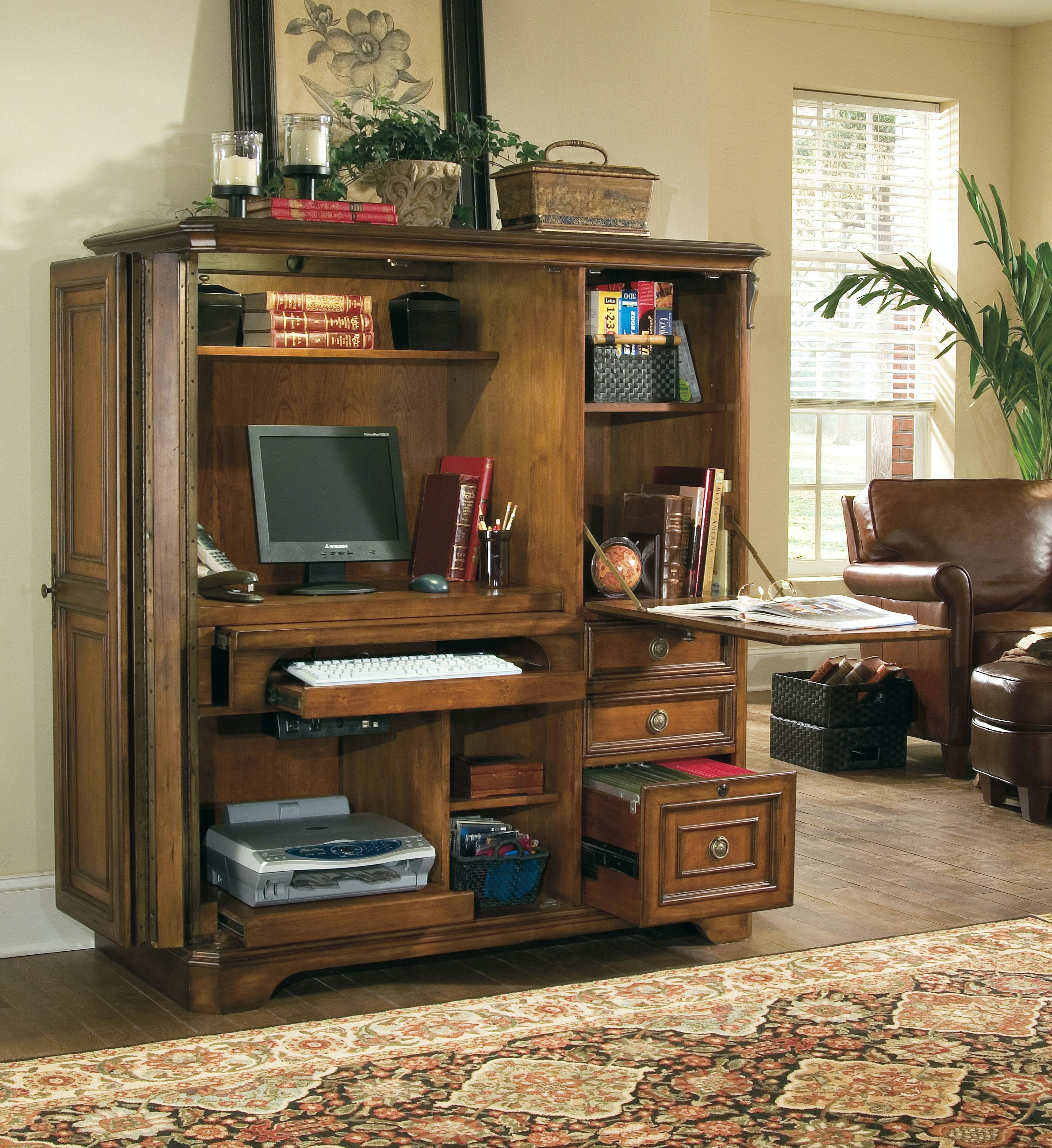 Beau Hooker Furniture Brookhaven Computer Cabinet 281 10 309