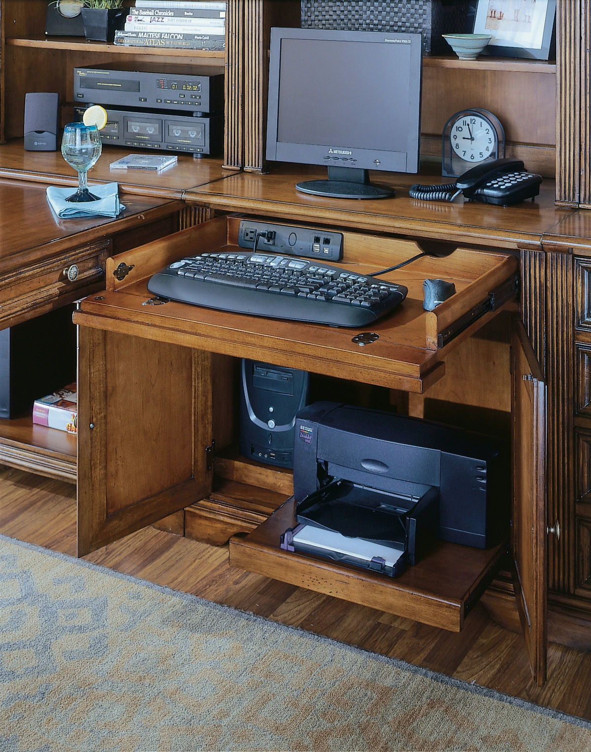 Computer Desk With Tower Compartment Zef Jam