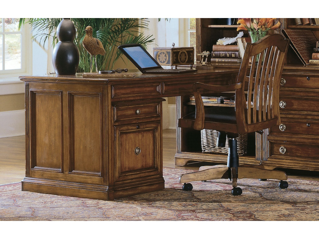 Hooker furniture home office brookhaven peninsula desk 281 for Furniture 411