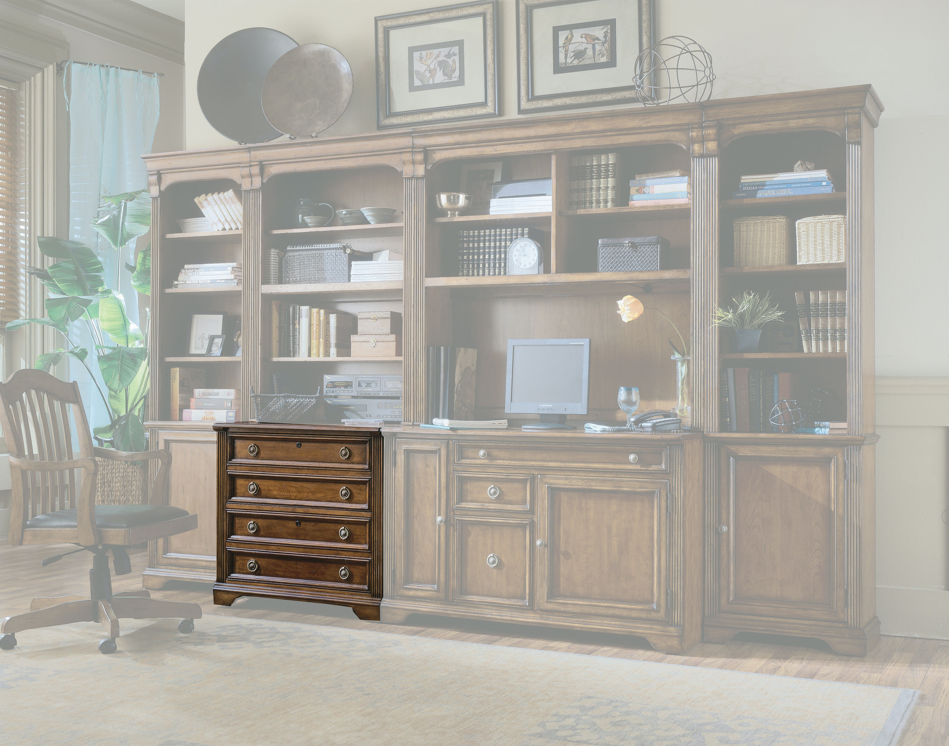 hooker furniture home office brookhaven lateral file 281-10-416