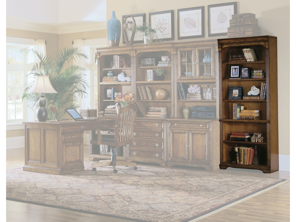 Hooker Furniture Home Office Brookhaven Tall Bookcase Hs28110422 Walter E Smithe Furniture Design